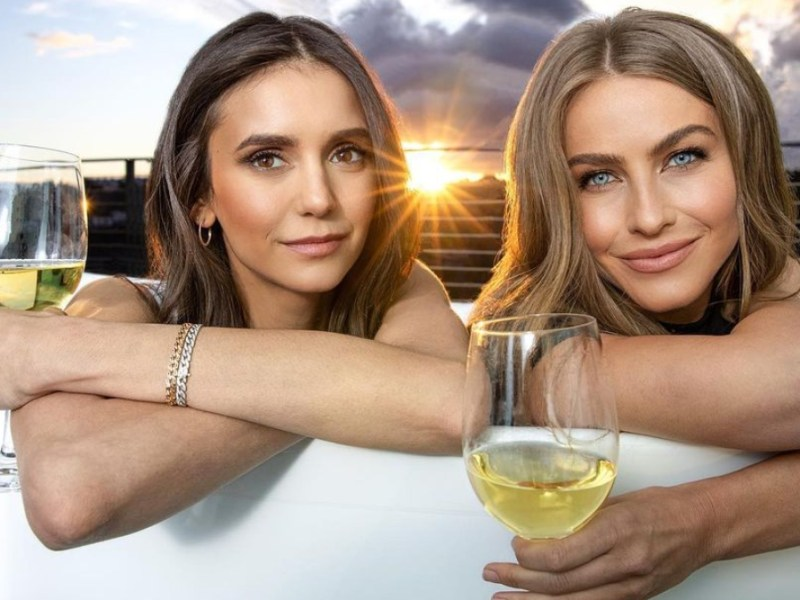 Celebrities Nina Dobrev and Julianne Hough announced the launch of a vegan wine company, Fresh Vine Wine