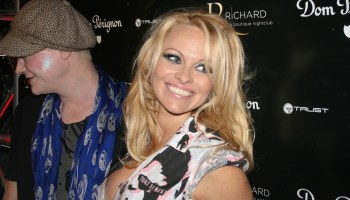 Pamela Anderson On New Billboard: 'Meat and Dairy Farms Drain Half the Country's Water'