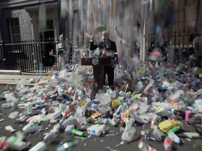 Prime Minister Boris Johnson Drowns In Plastic In New Satirical Animation Highlighting Pollution Crisis