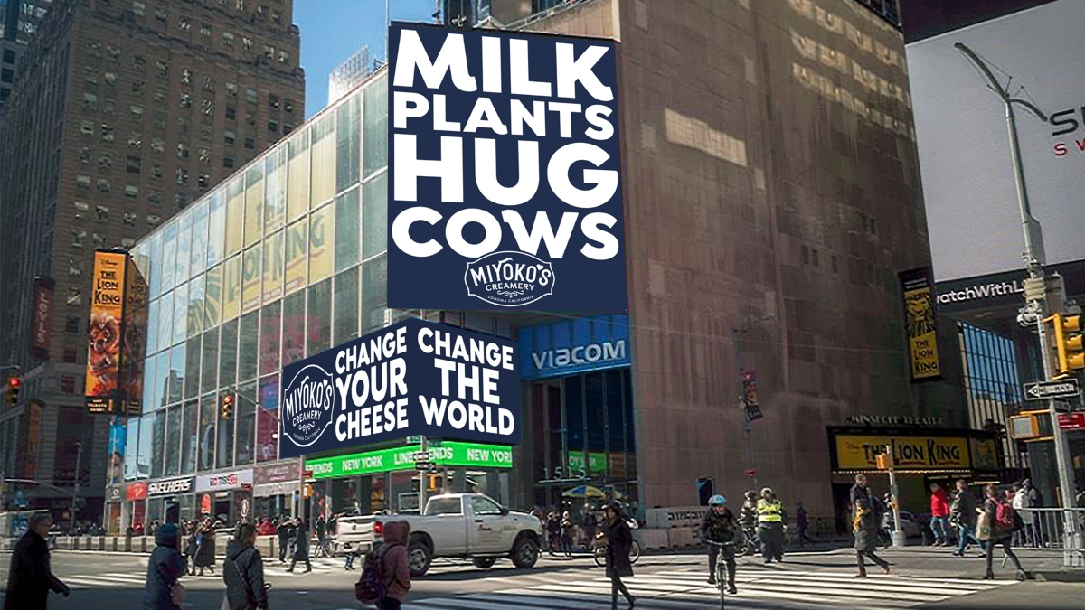 Miyoko's unveil giant billboards to encourage thousands of people to ditch dairy