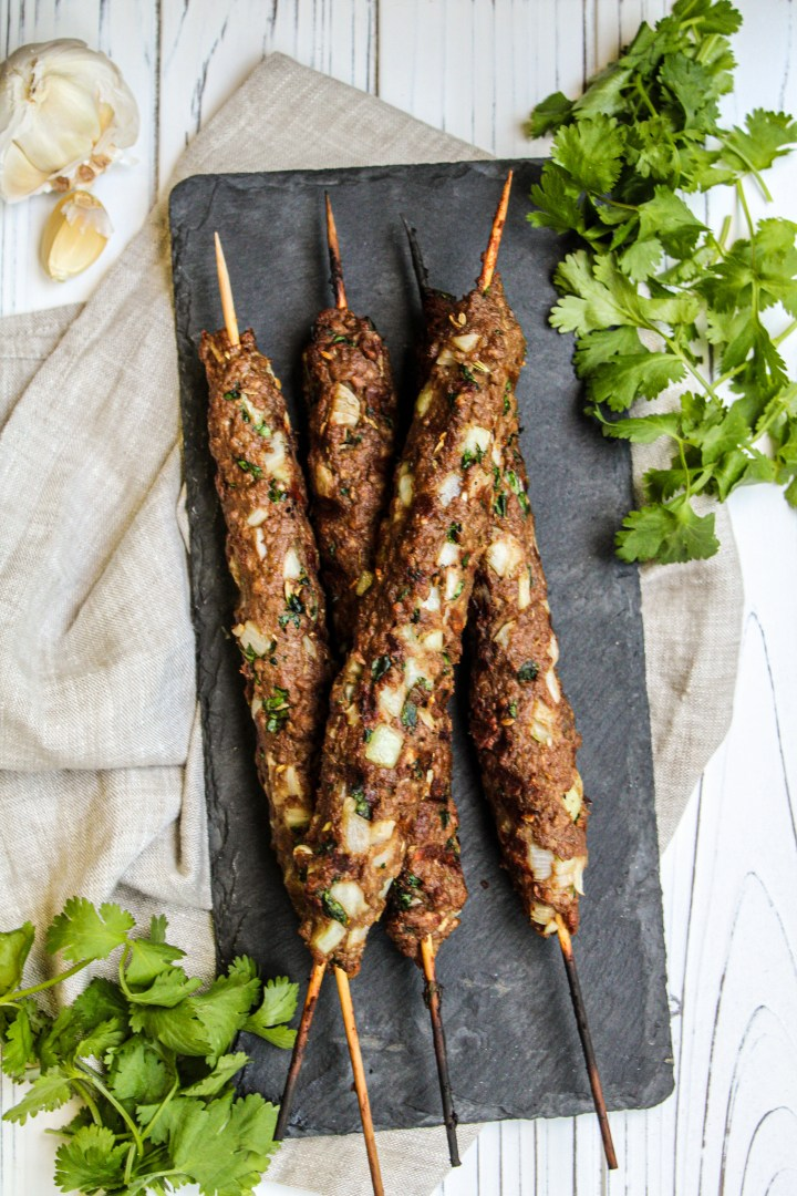 Vegan Turkish kofta kebabs