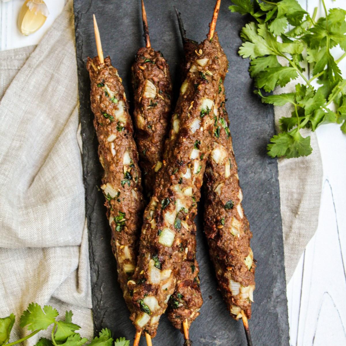Vegan Turkish kofte kebabs