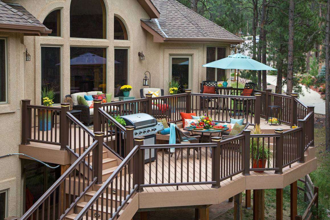 Ideas for Patios & Decks Using an Automatic Plant Watering ... on Outdoor Deck Patio Ideas id=94305