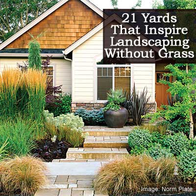 21 Yards Inspiring Landscaping Without Grass on No Lawn Garden Ideas  id=94728