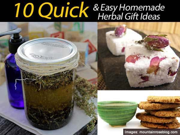 10 Quick And Easy Homemade Herbal Gift Ideas
