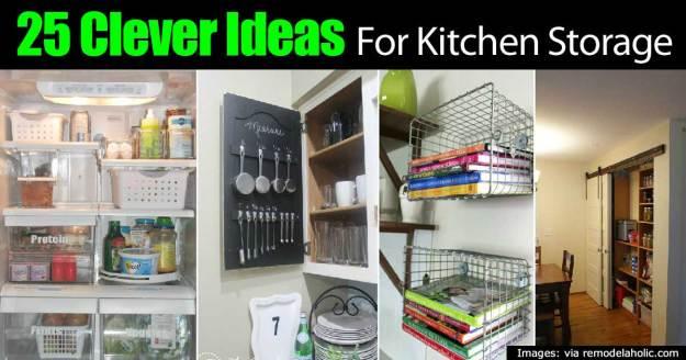 25 clever kitchen storage ideas -
