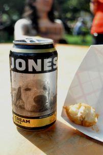 Jones cream soda and fried cauliflower! Thanks Kalachandji's!