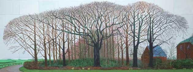 tree paintings: David Hockney