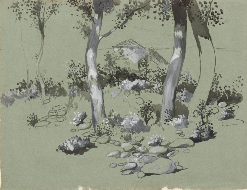Four Trees circa 1905 by Joan González 1868-1908