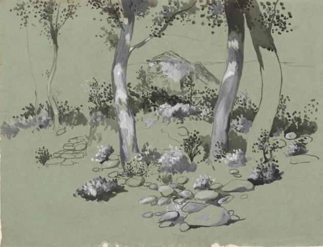 Four Trees circa 1905 by Joan González 1868-1908