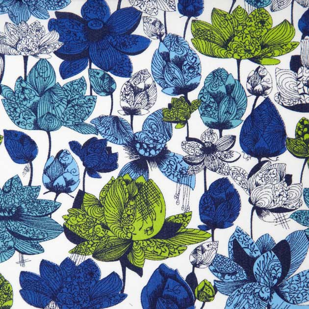 Liberty botanical fabric print