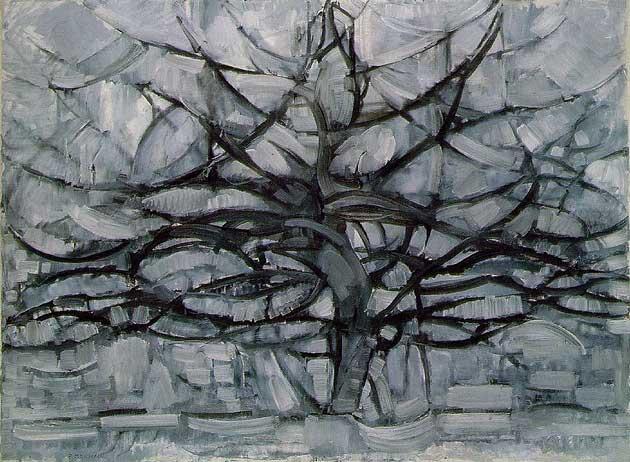 Grey tree modrian