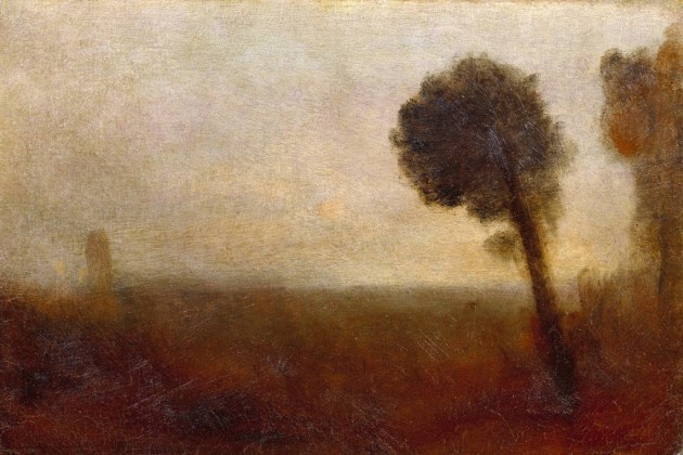 tree paintings: Turner landscape with trees
