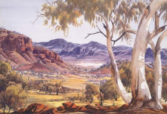 Albert Namatjira ghost gums