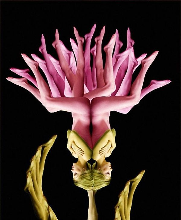 Flowers made of body parts