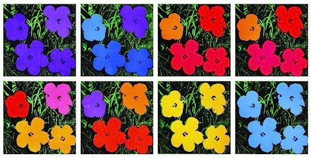 Flower series Andy Warhol