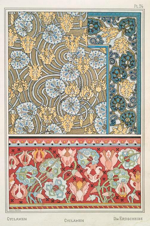 Cyclamen textile