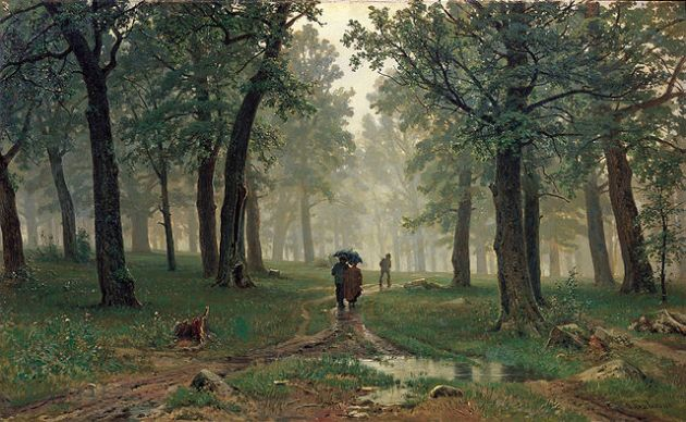 Rain in an Oak Forest, Tolstoy's Forest