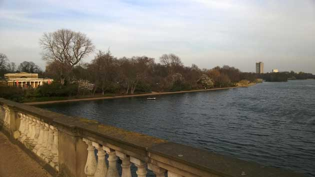 The Serpentine lake