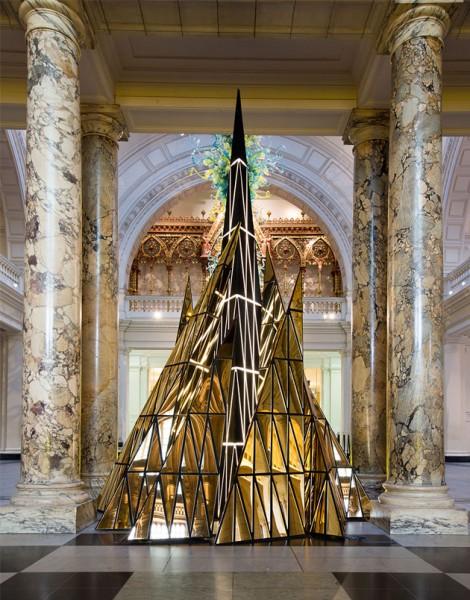 The London Christmas Tree & Plant Art Walking Map