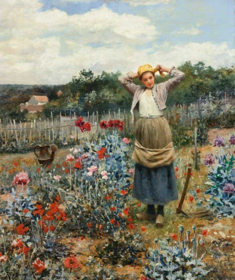 Daniel Ridgway Knight's plant loving peasant women