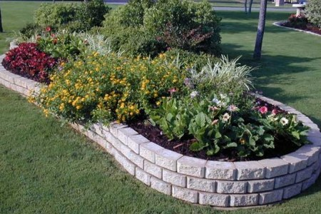 37 Creative Lawn and Garden Edging Ideas with Images   Planted Well Concrete Border Landscape Edging Ideas