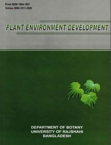 Plant Environment Development Journal Cover