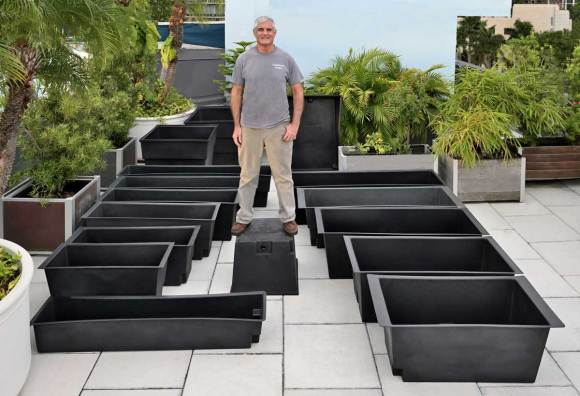 16 sizes of rugged waterproof stock planter liners and custom welded liners to any size: click the picture for more information