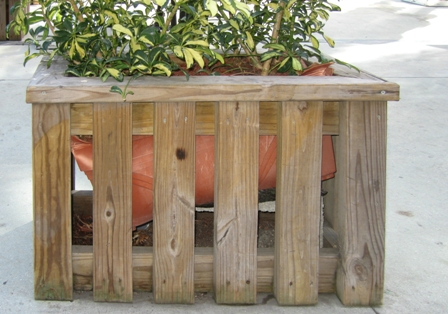 Carpenter built wood planter details