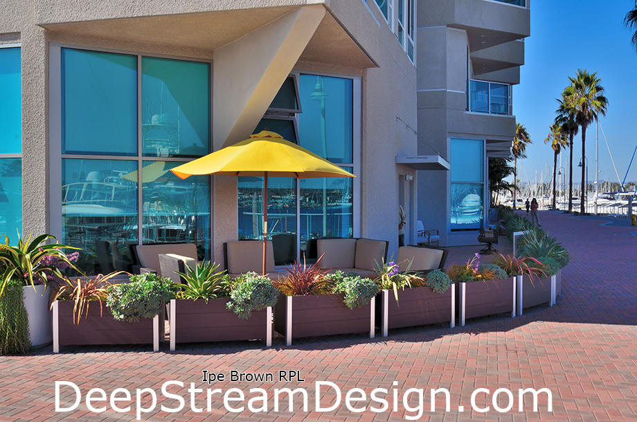 Large recycled plastic lumber Garden Planters