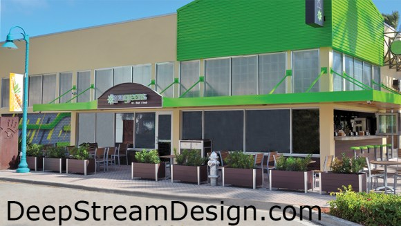 Click to DeepStream's solutions website to see more about commercial quality recycled plastic lumber planters