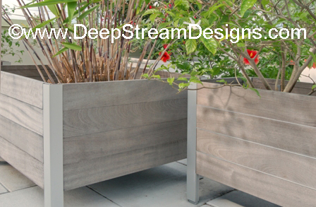 Aged Deepstream wood planter