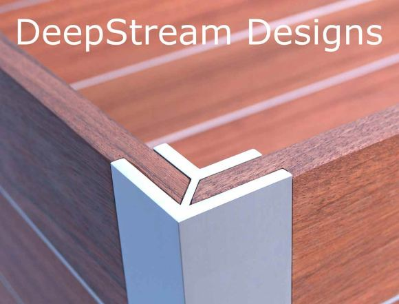 DeepStream Designs proprietary marine anodized extruded aluminum structural legs