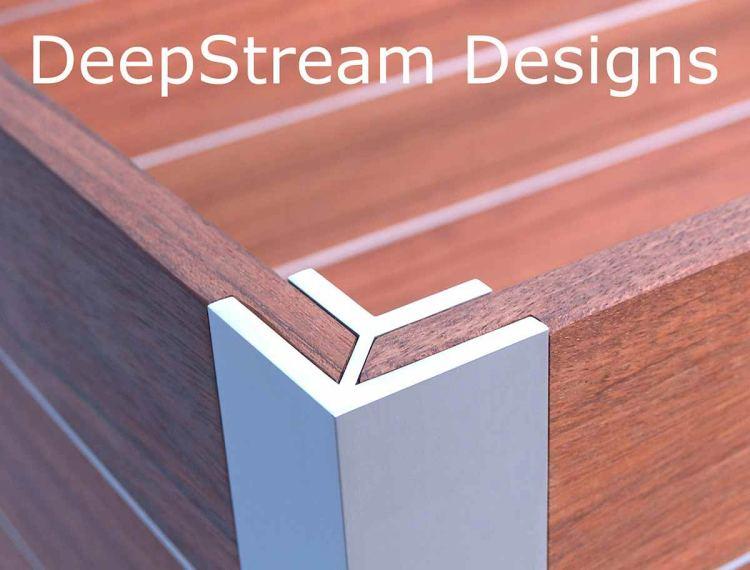 DeepStream Designs proprietary marine anodized extruded aluminum structural legs