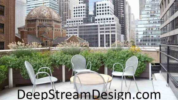 DeepStream's planters line parapet walls at the NFL's Manhattan Headquarters