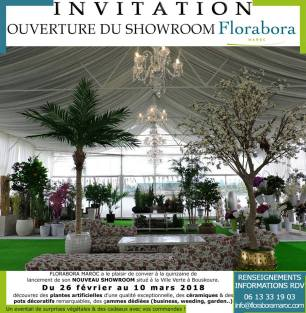Flyer quinzaine de lancement du showroom Florabora