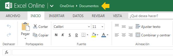 Documentos guardados de Excel online gratis