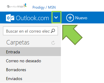 Menú de Outlook