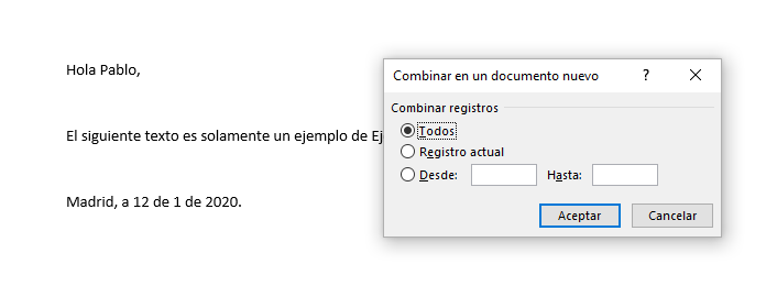 Combinar documento