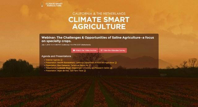 CDFA CSA site screenshot