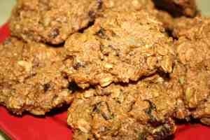 Cherry Pecan Trail Mix Cookies