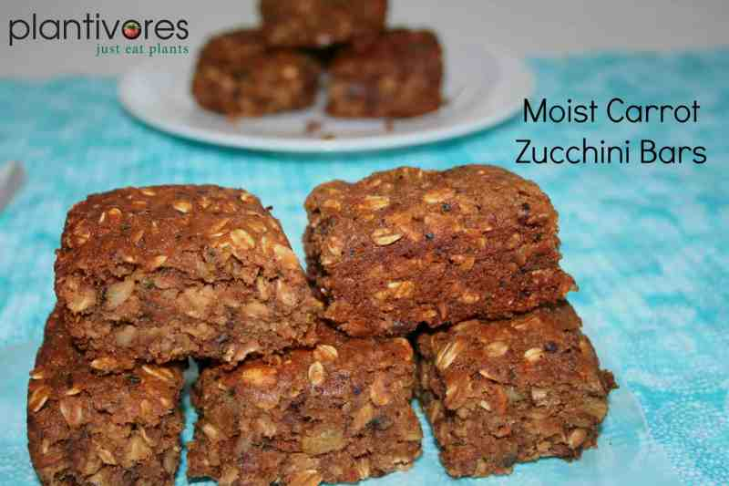 Moist Zucchini Carrot Bars