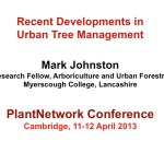 Recent developments in urban tree management