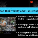 Urban biodiversity and conservation