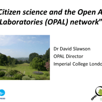 Citizen science and the Open Air Laboratories (OPAL) network