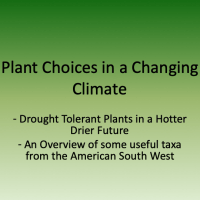 Plant choices in a changing climate
