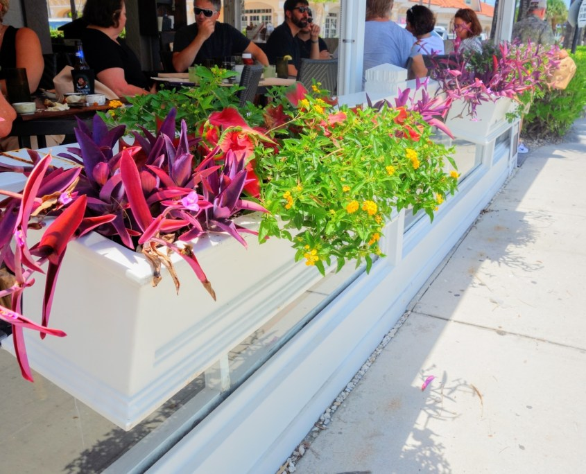 restaurant planters