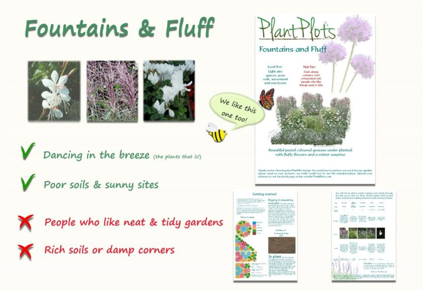 Garden Border Planting Design Plan soft fluffy planting in white
