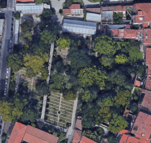 Pisa botanical garden_google earth
