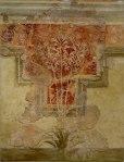 백합 프레스코Lilienfresco. 암미소스에서 발견된 빌라 벽화. 기원전 1600–1500년. 현재 이라클리오의 고고학 박물관에 전시되어 있다. © Olaf Tausch, Wikimedia Commons, License: CC BY 3.0.